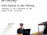 Poster Infostand in der Mensa