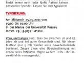 Typisierungsaktion an der Universität Passau