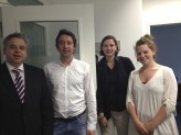(v.l.): Dr. Achim Dilling, Stefan Jelinek, Dr. Maria Diekmann, Stephanie Fichtl