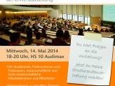 Infoveranstaltung der Unileitung am 14.05.2014