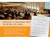 Plakat zur Infoveranstaltung der Universitätsleitung