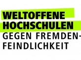 Logo Weltoffene Hochschulen - gegen Fremdenfeindlichkeit