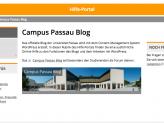 Hilfeseite des Campus Passau Blogs