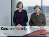 Laura-Theresa Krüger im Gespräch mit Bundeskanzlerin Angela Merkel