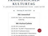 Veranstaltungsplakat der Deutsch-Französischen Gesellschaft