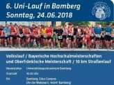 Informationsflyer der 6. Uni-Laufs Bamberg