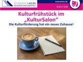 Informationsflyer Kulturfrühstück im KulturSalon