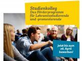 Studienkolleg: Das Förderprogramm für Lehramtsstudierende und -promovierende
