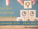 """Bild mit der Aufschrift: """"kuwi sein - ein Grund, zu gründen! kuwi.sommer vom 28.06. bis 30.06. 2019"""""""