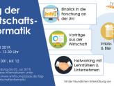 Ein Flyer mit Informationen zum Tag der Wirtschaftsinformatik