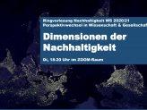 Plakat Dimensionen der Nachhaltigkeit