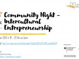 Flyer Virtual Community Night - Intercultural Entrepreneurship