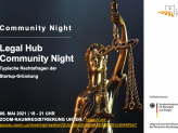 Flyer Community Night Legal Hub