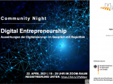 Flyer Community Night Digital Entrepreneurship